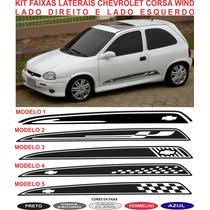 Acessorios Adesivo Faixa Lateral Chevrolet Corsa Wind Sport