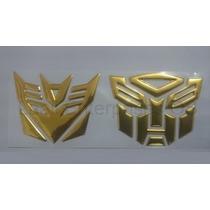 Adesivo Tuning Transformers Autobot+decepticon Vinil Dourado