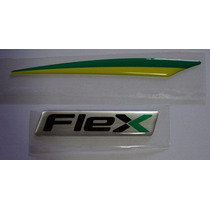 Emblema Adesivo Flex+bandeira Brasil Tucson /outros Resinado