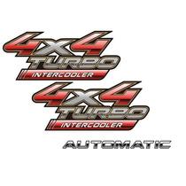 Par Adesivos Toyota Hilux 4x4 + Automatic - Modelo Original