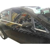 Kit Aplique Cromado Base Janelas Fiat Punto 08/13