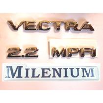 Kit De Emblema P/ Vectra + 2.2 + Mpfi + Millenium 96/..- Bre