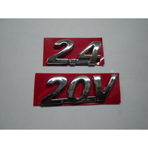 Emblemas 2.4 20v Paralamas P/ Fiat Stilo Abarth 04/09 - Bre