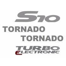 Quatro Adesivos Resinados S10 Tornado - 2006 À 2008 - Prata