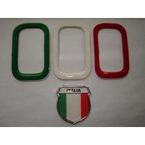 Aplique De Parachoque P/ Novo Uno + Escudo Itália - Bre