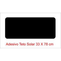 Adesivo Imitação Teto Solar Preto Black Piano Universal