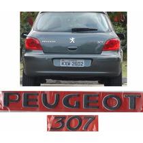 Emblema Nome Peugeot + 307 Cromado