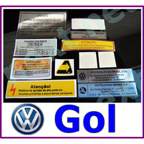 Etiqueta Capo Gol Gti Gts Quadrado Motor Selo Frente Gasol