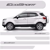 Friso Lateral Ford Ecosport 2013 A 2015 Branco Artico *