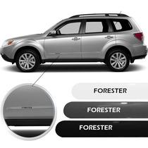 Friso Subaru Forester Prata Preto Branco Cinza Jogo Lateral