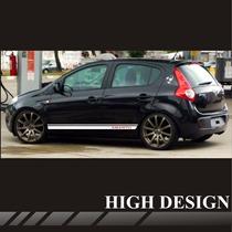Faixas Laterais Fiat Novo Palio Abarth R / Adesivo Tuning