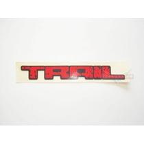 Emblema Adesivo Trail Pequeno Vermelho Mmf Auto Parts