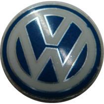 Emblema Logo Chave Canivete Vw Original Aluminio