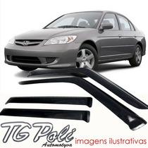 Calha Defletor De Chuva Honda Civic 01/06 4 Portas Tg Poli