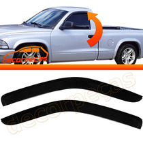 Kit Defletor Calha Chuva Dodge Dakota 97 - 04 2 Portas O Par
