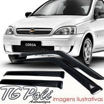 Calha Defletor De Chuva Corsa 1999 / 2012 4 Portas - Tg Poli
