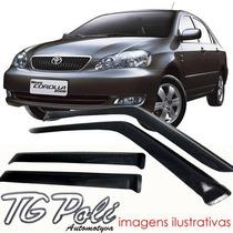 Calha Defletor De Chuva Toyota Corolla Sedan 03/07 Tg Poli
