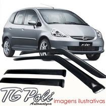 Calha Defletor Chuva Honda Fit 03/07 Tg Poli
