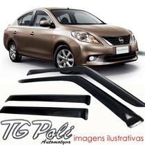 Calha Defletor Chuva Nissan Versa 11/14 - Tg Poli