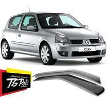 Calha Defletor De Chuva Renault Clio Hatch 2 Portas Tgpoli