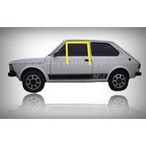 Kit Canaleta Calha Borracha Vidro Porta Fiat 147 - Novo