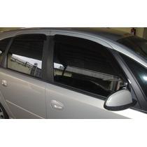 Jogo 4 Calhas De Chuva Chevrolet Meriva 2002 Até 2012 4p
