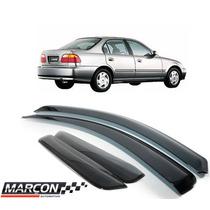 Calha Defletor De Chuva Honda Civic 1996 A 2000 Marçon