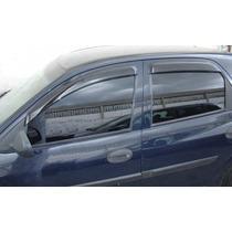 Jogo 4 Calhas De Chuva Chevrolet Celta 2003 Prisma 2006 Até