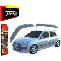 Calha De Chuva Renault Clio 00/ Hatch Sedan 4p Tgpoli