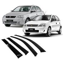 Calha De Chuva Corsa Hatch/ Sedan 2003 Em Diante 4 Portas Gm