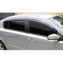 Jogo 4 Calhas De Chuva Chevrolet Vectra Sedan 2006 Até 2011