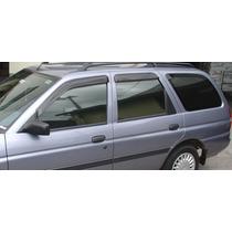 Jogo 4 Calhas De Chuva Ford Fiesta Hatch 96 Até 2001 Escort