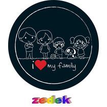 Capa Roda Estepe Pajero Tr4 - I Love My Family, Familia
