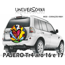 Capa Estepe Tr4 Pajero, Grátis Cabo+cadeado Romero B Coração