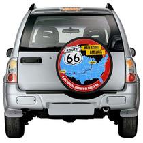 Capa Roda Estepe Route Ecosport Crossfox Aro 15 16 Rota 66