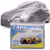 Kit C/2 Capa Cobrir Carro Fiat Uno Forrada 100% Impermeável