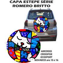 Capa Estepe Crossfox,grátis Cabo+cadeado, Gato Romero Britto