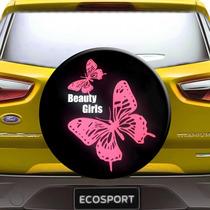Capa Estepe Ecosport Crossfox Borboleta Aro 13 A 15 Cadeado