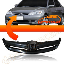 Grade Frontal Do Radiador Civic 2004 2005 04 05 Nova