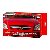Friso Cromado Grade Novo Celta Prisma 2007 Aplique Mascara