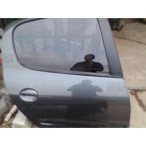 Porta Traseira Lado Direito Peugeot 207 Com Vidro 2012