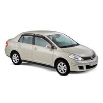 Calha De Chuva Nissan Tiida Sedan 2010...4pts Fumé