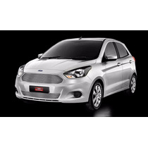 Kit Sobre Grade Cromo Aço Inox Filetada Ford Ka 2014 2015 ~