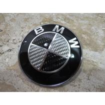 Bmw Carbono Original Emblema 82mm Capô Ou Porta Mala***