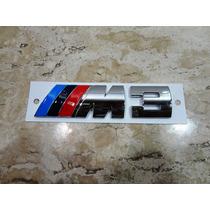 Bmw M3 Emblema Traseiro M3 Tamanho Aproxi. 12cm Por 3cm***