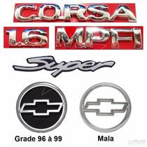 Emblemas Corsa Sedan Super 1.6 - 96 À 99 - Modelo Original