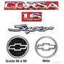 Emblemas Corsa Sedan Super 1.6 - 96 À 1999 - Modelo Original