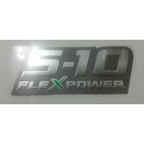 Emblema Adesivo S10 Flexpower Verde Chevrolet- 2009 Á 2011