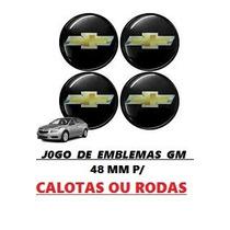 Jogo De Emblemas Gm P/ Calotas Ou Rodas ( Frete Gratis )