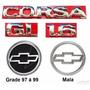 Emblemas Corsa Hatch Gl 1.6 - 1997 À 1999 - Modelo Original
